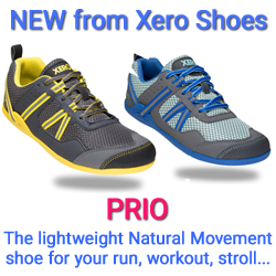 Prio -- the zero-drop minimalist running fitness shoe from Xero Shoes