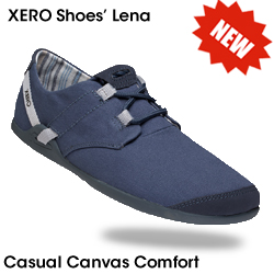 Lena - the NEW casual canvas comfort shoe from Xero Shoes