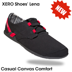 Lena -- the new minimalist casual canvas shoe from Xero Shoes